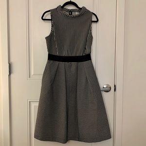 New York & Company Hi-Lo Striped Dress